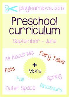 Free Preschool Curriculum | play learn love