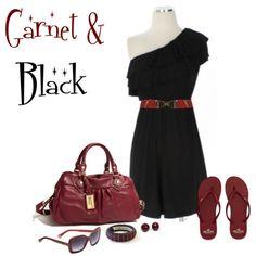 So pretty garnet & black Gameday outfit. #Gamecocks