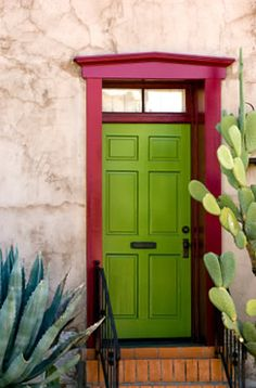 This door in Tucson showcases the vivid colors of the Southwest.