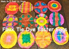 grab the dot markers/bingo daubers and create fun tie dye patterns!