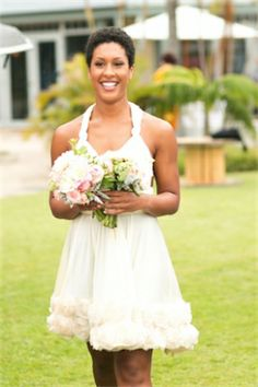 Everything about this bridesmaid dress is fabulous! | PreOwnedWeddingDresses.com Real Weddings | Photo: Our Labor of Love