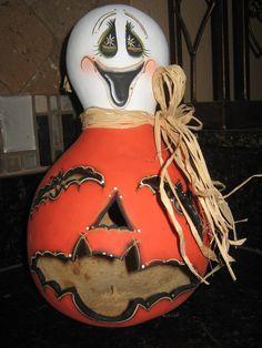 Ghost Pumpkin Halloween Gourd.