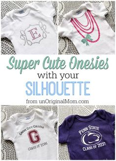 Adorable onesies to make with your Silhouette - great ideas! | unOriginalMom.com | #baby #gifts #onesie #silhouette
