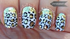 Glitter Leopard and Ruffian Nail Art (no tools required)