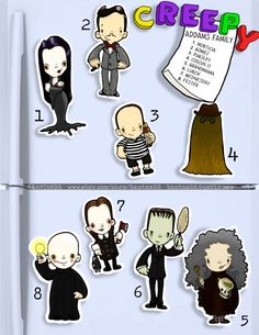 Addams Family Magnets