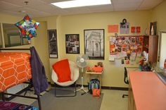 This is a room in Skemp Hall, the freshman women's residence hall.