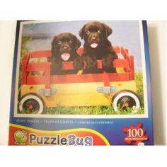 Puppy Wagon Puzzlebug 100 piece