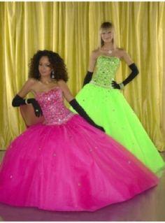 Vestidos de fiesta en colores flúor - Prom dresses in fluor colors