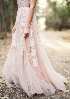 pink tulle maxi skirt (gown)