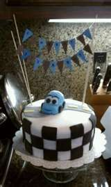 this is cute. Cars baby shower cake