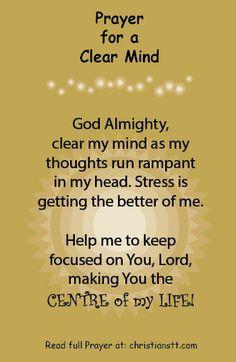 Prayer to Clear My Mind