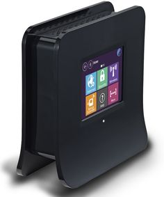 Touch-Screen Wireless Router can be set up by itself. Looks good too.