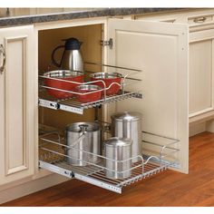 Roll out cabinet organizers