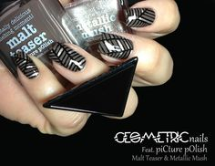 piCture pOlish 'Malt Teaser & Metallic Mush' mani creation by Fashion Polish!  Buy on-line now:  www.picturepolish.com.au