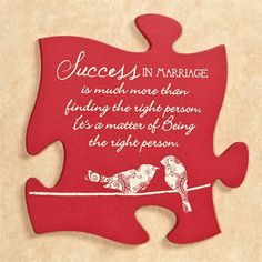 Marriage Quote Puzzle Piece Wall Art
