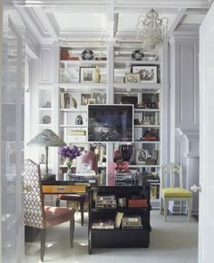 mirror to rear of shelves