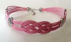 Large Knot Pink slave/submissive Collar -  BDSM  Item (59) - More Colors. $20.00, via Etsy.