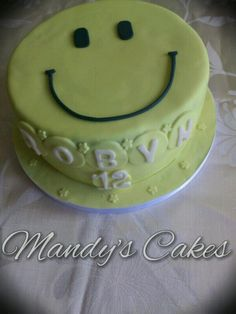 Smiley face birthday cake.