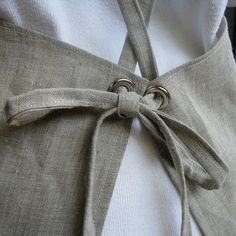 3/4 Linen Apron by goodmeasureshop on Etsy, $48.00