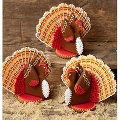 thanksgiving cookies, craft, ushers, julia usher, cooki decor