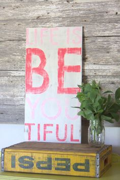 Beautiful  Hand Painted Sign by TheHouseofBelonging on Etsy, $35.00