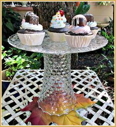 12 Vintage Wedding Cake Stand Pedestal  / by GardenWhimsiesByMary