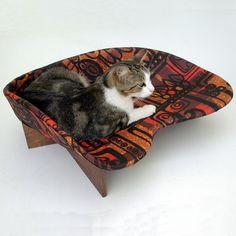 Mid-century modern cat bed
