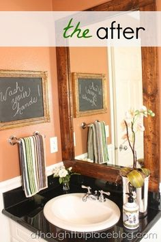 rustic bath frame -- for maybe the boys bath?