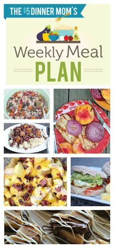 Free Weekly Meal Plan with Printable List (week of April 13) | 5DollarDinners.com