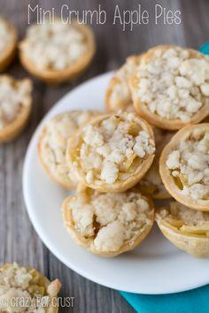 Mini Crumb Apple Pies - my family's favorite recipe!  | crazyforcrust.com