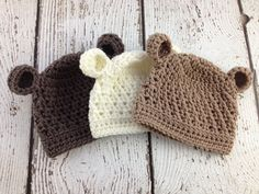 Bear Crochet Hat, Ba