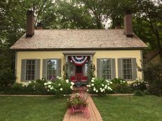 Exterior ideas for a Greek Revival Cottage built in 1863