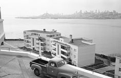 The view of the Guard's Family Apts on Alcatraz.  I lived on the third floor on the right side of the building from January 1970 to August 1970 during the Indian Occupation. The top left was used as our school for us kids under 18 and where Radio-Free Alcatraz broadcast from.  My teacher was Linda Aranydo, one of the original Indian students that first took over the Island.