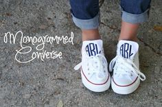 Monogrammed Converse...love this.