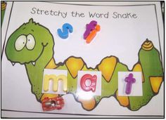 Stretching Sounds in words - FREE download for Stretchy the Word Snake mat.