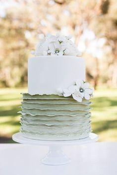 Hand Crafted Ranunculus Flower Cake