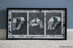 DIY Father's Day Photo Frame.  Cute idea!