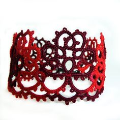 Red fashion lace bracelet red lace cuff