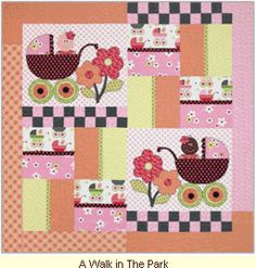 A Walk in the Park  Quilt Pattern by Quilt Soup by agardenofroses, $9.00
