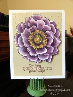 Stampin' Up! Blended Bloom colored in with SU! Blendabilities alcohol markers
