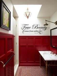 True Beauty comes from within- what a stunningly beautiful and accurate design from tradingphrases.com I think this belongs in EVERY teen girls' bathroom!! Starting at $29.99