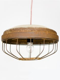 cool diy lamp...just scrub that old feeder real well first  ; )