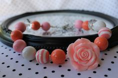 Chunky Necklace for Little Girls in Coral by SassySamsTreasures