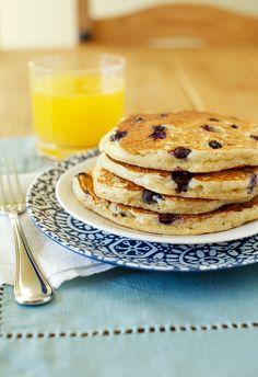 Blueberry yogurt pancakes!