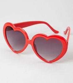 Someone please get me heart-shaped sunglasses. $14