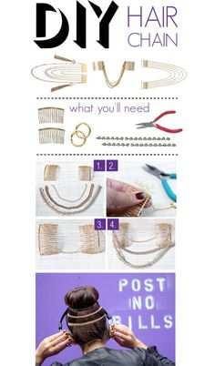 """DIY: Hair Chain"" by polyvore-editorial on Polyvore"