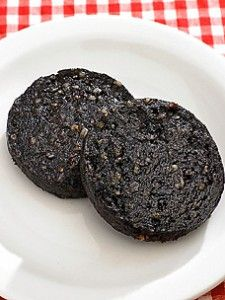 Black pudding - fried congealed pigs' blood. A British staple.