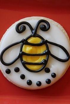 Bee Cookies on Pinterest | Bee Cupcakes, Bee Cakes and Flower Cookies
