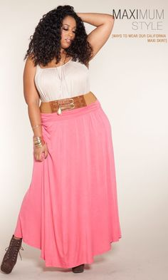 Maximum Style - Belted And Cinched. The SWAK Designs California Maxi Skirt