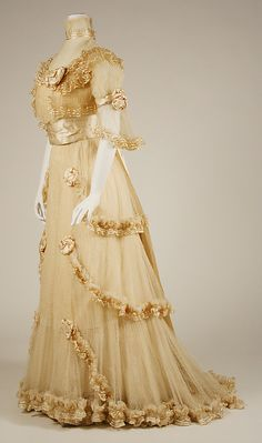 Evening Dress 1906, French, Made of silk